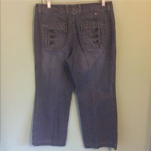 Tommy Hilfiger Cropped Capri Jeans Pants 8 Blue
